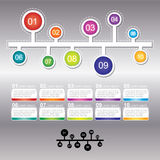Le calibre de conception d'Infographic peut être employé pour la disposition de déroulement des opérations Photo stock