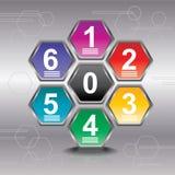 Le calibre de conception d'Infographic peut être employé pour le déroulement des opérations Photographie stock
