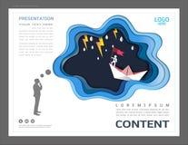 Le calibre de conception de disposition de présentation, l'utilisation dans la direction d'affaires et le concept de succès, vol  illustration de vecteur