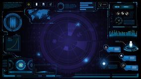 Le calibre et l'élément d'interface d'écran d'innovation de technologie de Hud conçoivent le fond illustration de vecteur