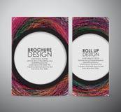 Le calibre géométrique coloré abstrait de design d'entreprise de brochure d'éléments ou s'enroulent illustration de vecteur