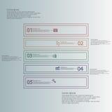 Le calibre infographic de forme carrée se compose de cinq parts des contours illustration libre de droits