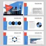 Le calibre universel pour la présentation glisse avec des graphiques et des diagrammes Perfectionnez pour votre rapport de gestio Photographie stock libre de droits