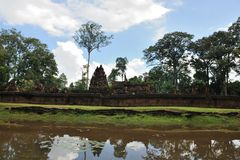 Le Cambodge - l'Angkor - le Banteay Srei Photos stock