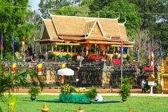 Le Cambodge le presh de labourage royal de bayon d'angkor de Siem Reap de cérémonie vihear Image stock