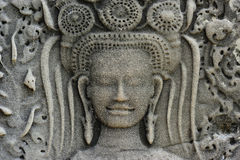Le Cambodge ; Wat d'Angkor ; apsara Photos libres de droits