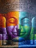 Le Cambodgien Bouddha font face Photo libre de droits