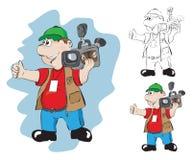 Le cameraman Photo libre de droits