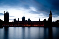 Le Camere del Parlamento a Westminster Fotografie Stock