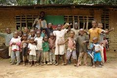 Le Cameroun/Akonolinga/école de jungle Image libre de droits