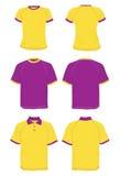 Le camice di base ed il polo modella il colore rosa ed il colore giallo. Fotografie Stock Libere da Diritti