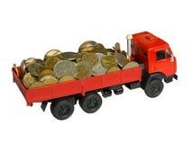Le camion avec de l'argent Photos stock