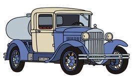 Le camion de réservoir de laiterie de vintage illustration de vecteur