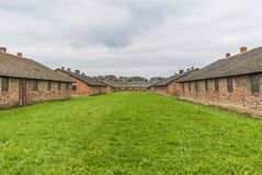 Le camp d'extermination d'Auschwitz, Pologne photo libre de droits