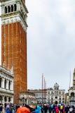 Le campanile de marques de saint, la tour de cloche du St marque l'église de basilique en San Marco Square, Venise, Italie photos stock