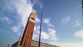 Le campanile de St Mark   Venise banque de vidéos