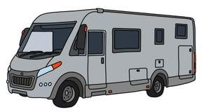 Le camping-car argenté illustration libre de droits