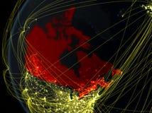 Le Canada de l'espace avec le réseau photos stock
