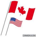 Le Canada et les Etats-Unis Photos stock