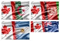 Le Canada et les pays illustration de vecteur