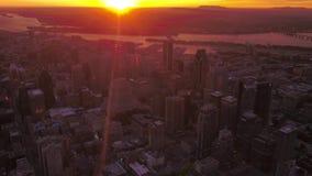 Le Canada Montréal le lever de soleil aérien 4K en juillet 2017 inspirent 2