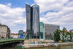 Le canal à Vienne, Autriche photo stock