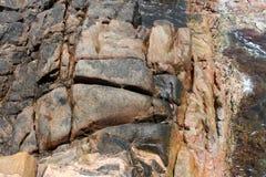 Le canal antique de formation de roche oscille l'Australie occidentale Photo stock