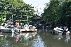 Le canal dans Negombo Image stock