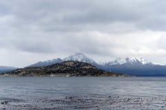 Le canal de briquet en parc national de Tierra del Fuego Photographie stock libre de droits
