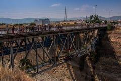 Le canal de Corinthe, Grèce Images stock
