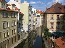 Le canal du fleuve de Vltava Images libres de droits
