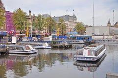 Le canal voyage en Boat, Amsterdam Photo libre de droits