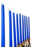 Le candele del menorah di Hanukkah hanno isolato immagini stock libere da diritti