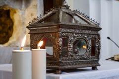Le candele sopra si alterano Fotografia Stock Libera da Diritti