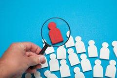 Le candidat compétent de match, choisissent des personnes Le meilleur segment de client et de client photos libres de droits