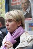 Le candidat d'opposition pour le maire de Khimki Image stock