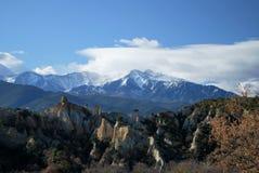 Le Canigou pendant l'hiver Photos libres de droits