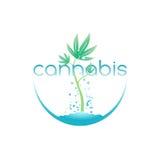 Le cannabis simbolizzano, vector l'illustrazione Fotografia Stock Libera da Diritti