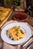 Le Cannelloni avec hachent remplir et câpres Photos stock