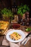 Le Cannelloni avec hachent remplir et câpres Photographie stock libre de droits