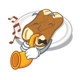 Le cannoli de trompette étant isolé avec dans le caractère illustration libre de droits