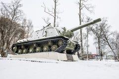 Le canon autopropulsé d'artillerie de l'ISU-152 Image stock