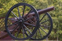 Le canon d'ère de guerre civile donne sur la montagne de kennesaw Image stock