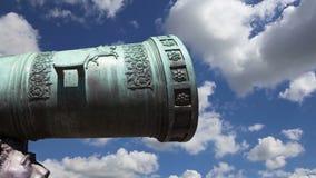 Le canon de tsar, Moscou Kremlin, Russie banque de vidéos