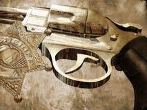 Le canon du shérif Photos libres de droits