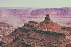 Le canyon amorti de désert donnent sur Photographie stock