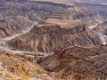 Le canyon de rivière de poissons, Namibie, Afrique Images stock