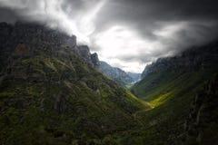 Le canyon de Vikos Image libre de droits