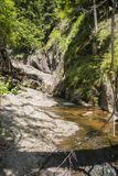 Le canyon des cascades Photos libres de droits