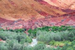 Le canyon Gorge du Dades - Afrique, Maroc image libre de droits